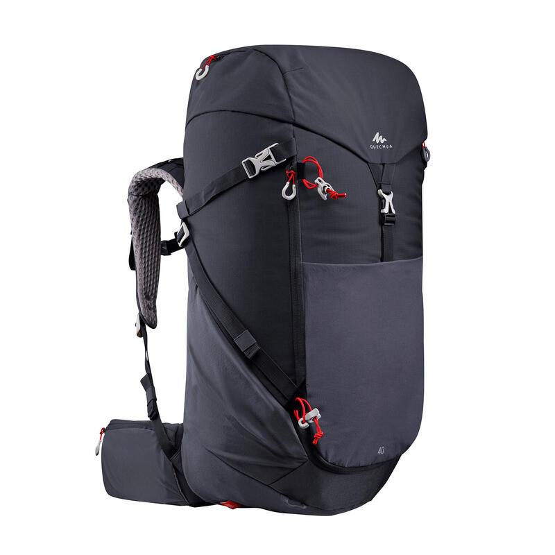 Рюкзак 500 для гірського туризму, 40 л - Чорний