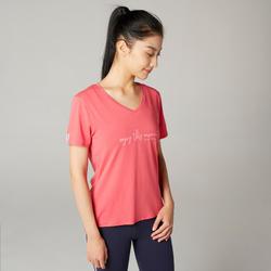 Women's Pilates & Gentle Gym T-Shirt - Pink