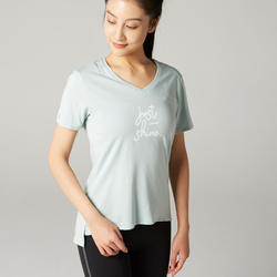 Women's Pilates & Gentle Gym T-Shirt - Green