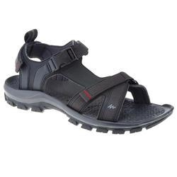 男士健行運動涼鞋 ARPENAZ 100 黑色