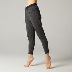 女款溫和健身與皮拉提斯長褲500 - 灰色