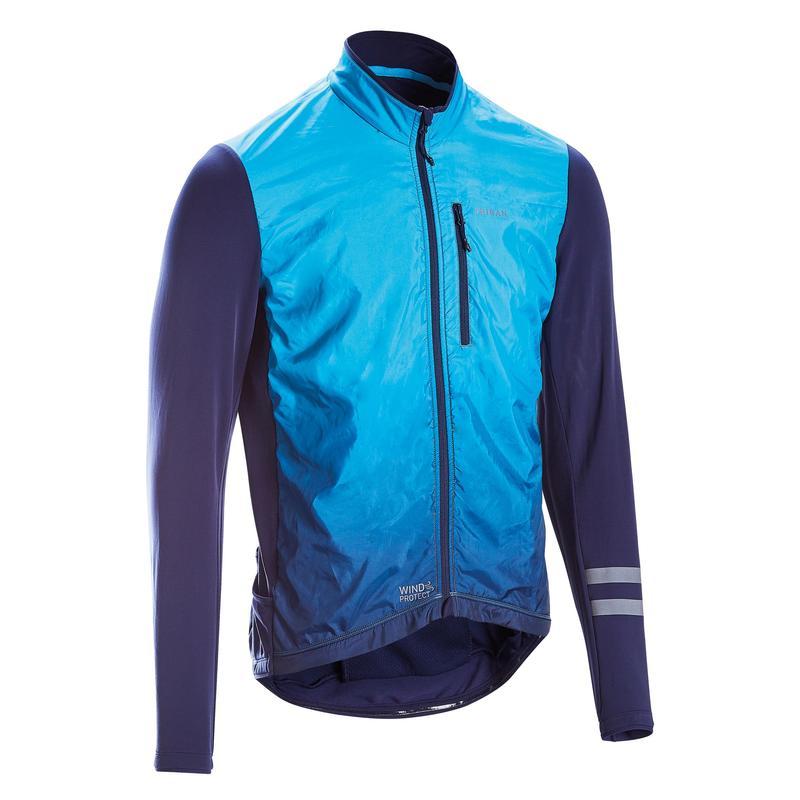 Maglia ciclismo uomo RC500 SHIELD azzurra