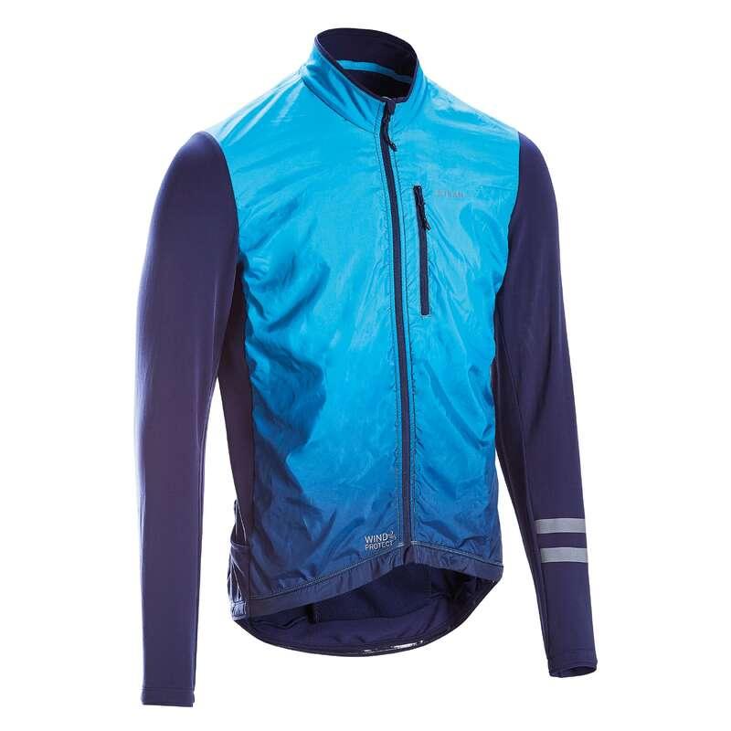 KLÄDER LANDSVÄGSCYKLING LANDSVÄG MELLANS Populärt - Cykeltröja RC500 SHIELD blå TRIBAN - Överdelar