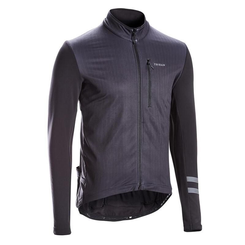 RC500 Warm Long Sleeve Cycling Jersey - Black