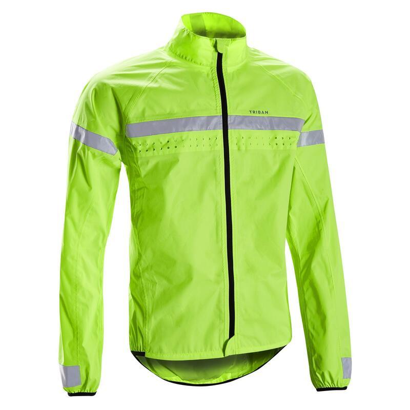RC120 Hi Vis Waterproof Cycling Jacket - EN1150 Yellow