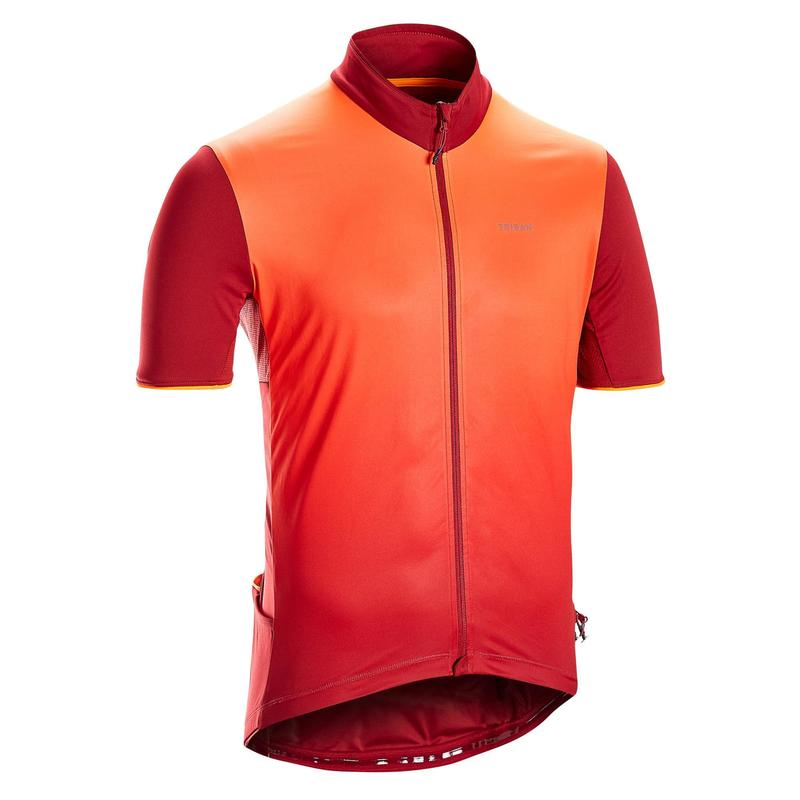 RC500 Short-Sleeved Road Cycling Jersey - Burgundy/Red