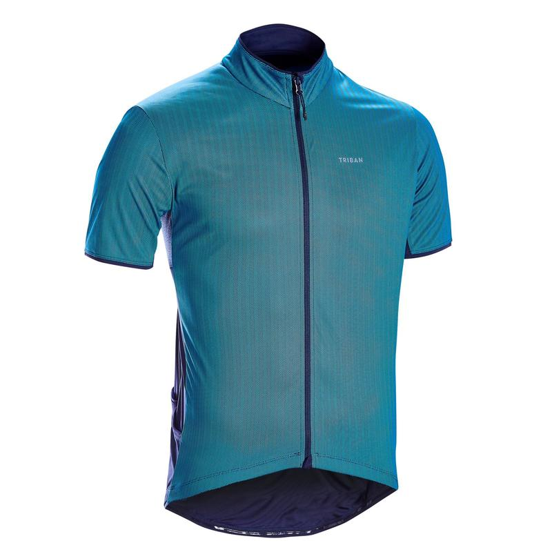Short-Sleeved Road Cycling Jersey RC500 - Blue