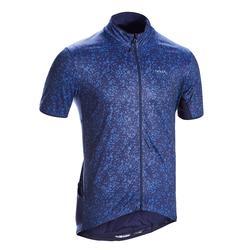 Fietsshirt met korte mouwen voor heren racefietsen RC500 Terrazzo blauw