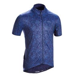 MAILLOT MANCHES COURTES VELO ROUTE TRIBAN RC500 TERRAZZO BLEU