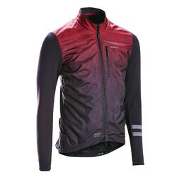Long-Sleeved Road Cycling Jersey RC500 Shield - Burgundy