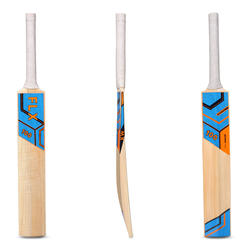 KW100 SIZES 3, 4, KASHMIR WILLOW CRICKET BAT LIGHT BLUE