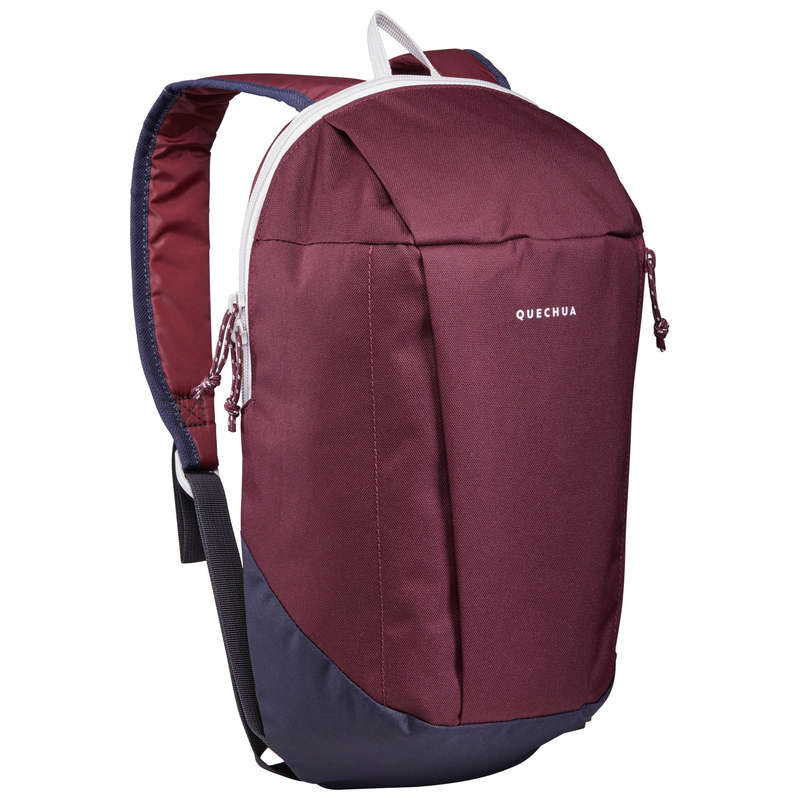 10L TO 30L NATURE HIKING BACKPACKS Hiking - Backpack NH100 10 L - Bordeaux QUECHUA - Hiking Backpacks and Bags