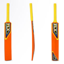 T100 NEW juniors beginners cricket bat, orange