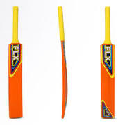 T100 SIZES 0, 1, 2, 3, POPLAR CRICKET BAT ORANGE