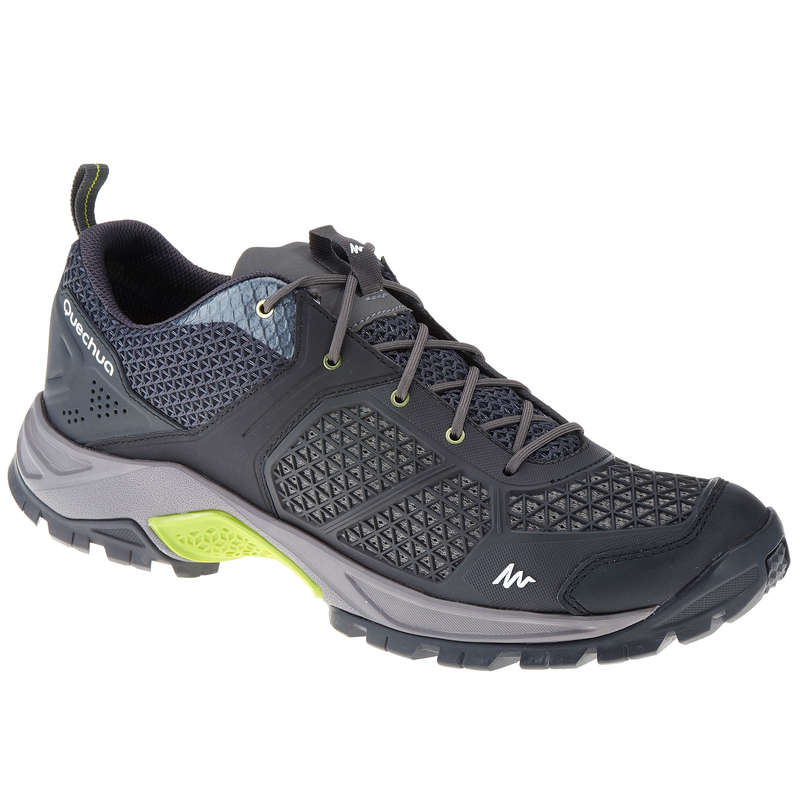 MEN HIKING SANDALS/SHOES WARM WEAT Hiking - NH500 Fresh Mens Walking Shoes - Black  QUECHUA - Outdoor Shoes