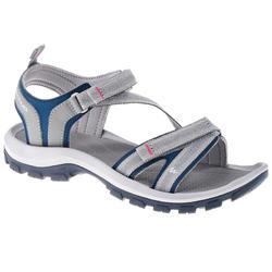 女性健行運動涼鞋 Arpenaz 100 - 藍色 灰色