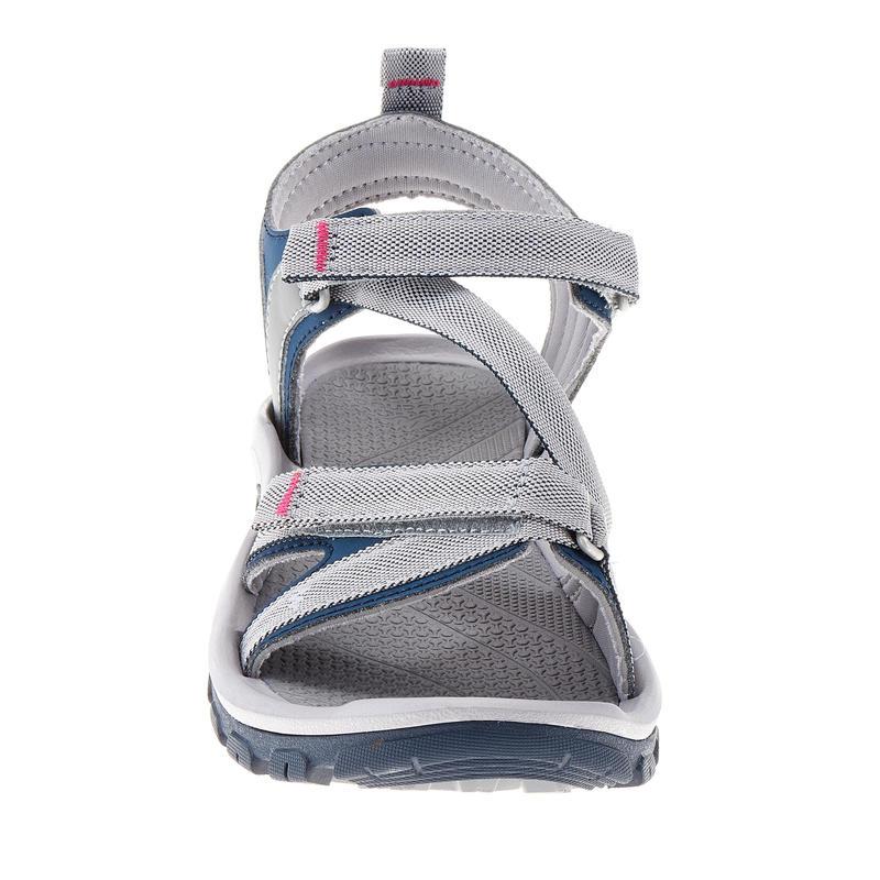 Sandalias de Excursión Arpenaz 100 mujer gris azul