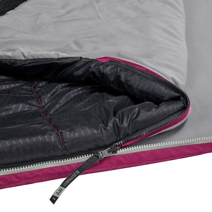 SLEEPIN BED MH500 - SAC DE COUCHAGE ET MATELAS 2 EN 1 - PRUNE - 5°C - L