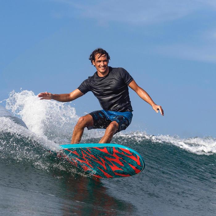 Uv-werend zwemshirt met korte mouwen voor surfen heren zwart