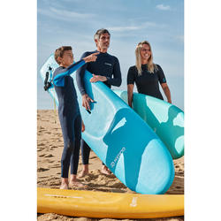 PLANCHE DE SURF EN MOUSSE 100 8'2 Livrée avec un leash et 3 ailerons.