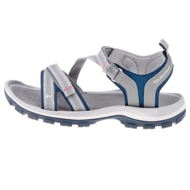 Sandales de randonnée nature NH110 gris bleu femme
