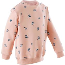 Girls' and Boys' Baby Gym Sweatshirt 100 - Pink AOP