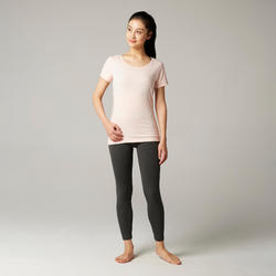 T-Shirt 100% Coton Fitness Rose