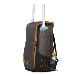 CRICKET MULTI- COMPARTMENT KIT BAG 75L, ADULT SIZE, GREY/ORANGE