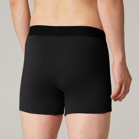 Fitness Stretch Cotton Boxer Shorts -Black