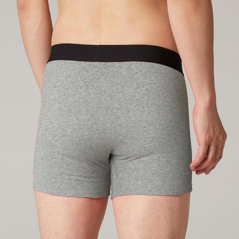 Men's Boxer Shorts 500 - Mottled Grey