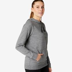 Trainingshoodie dames 500 grijs