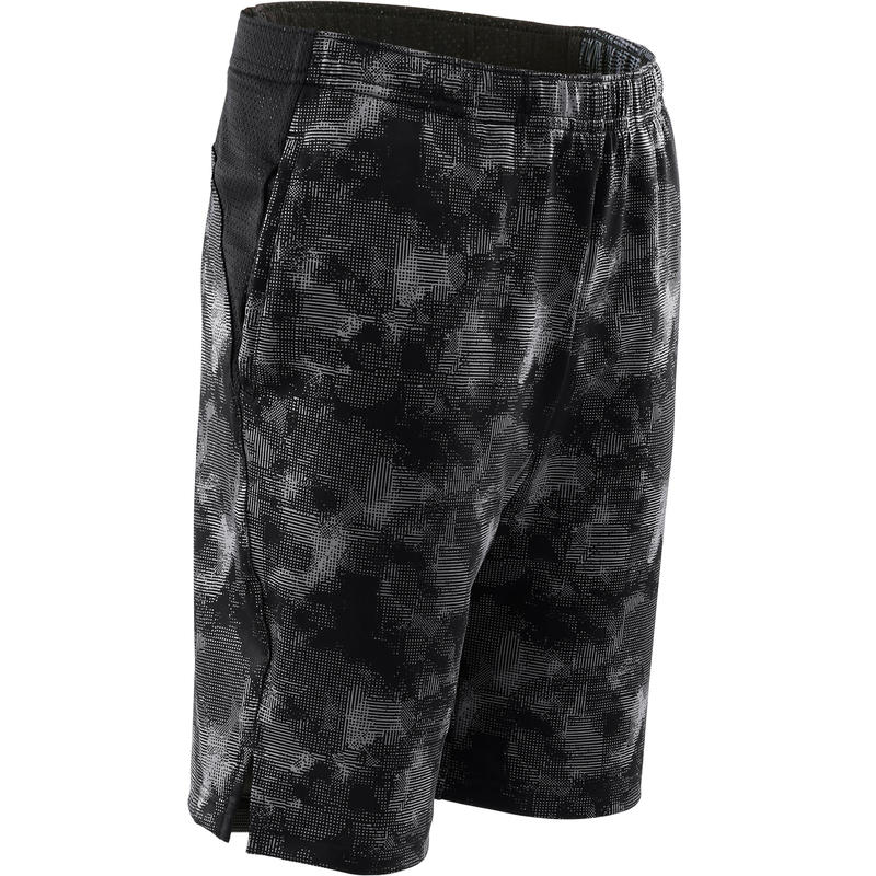 Kids' Breathable Shorts - Black/Print