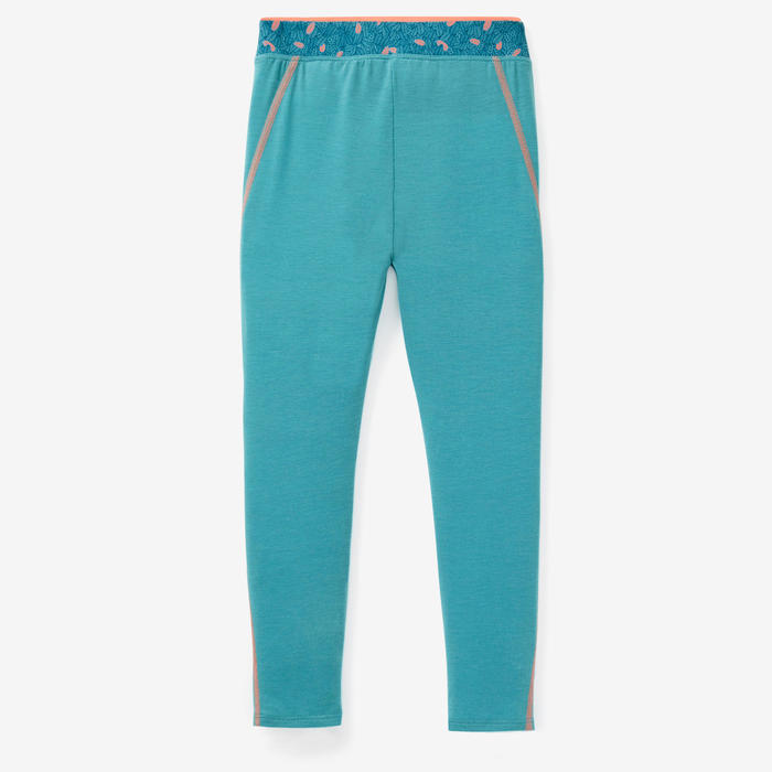 Legging 500 Baby Gym Fille Turquoise