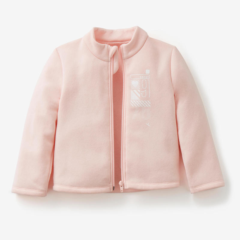 Survêtement Warm'y Zip baby gym 100 Rose