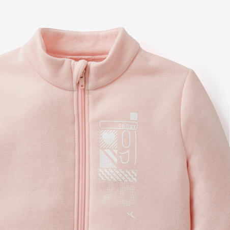 Warmy Zip 100 Baby Gym Tracksuit - Pink
