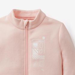 Joggingpak kleutergym Warm'y Zip 100 roze