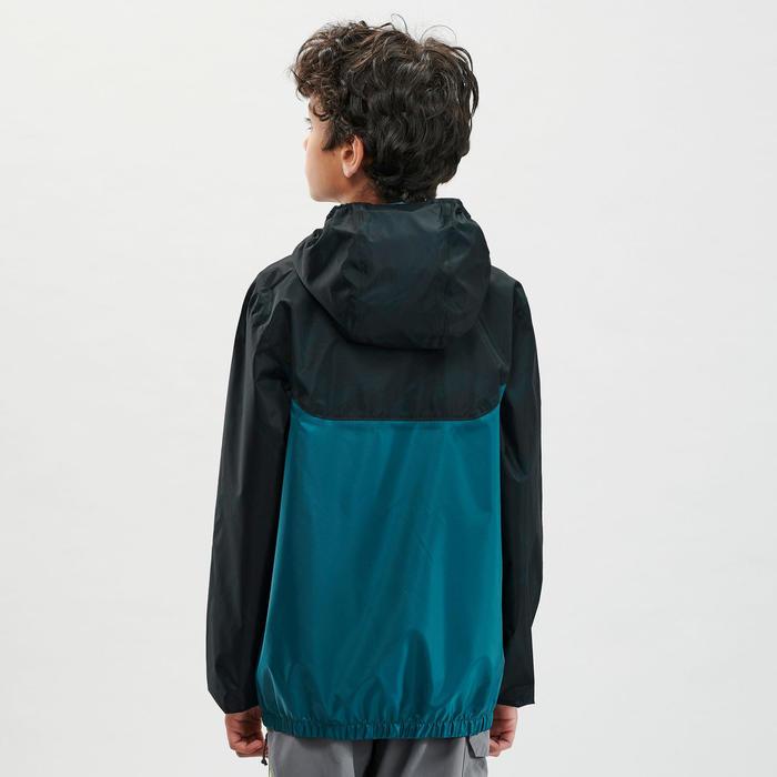 Casaco impermeável de caminhada - MH150 verde - criança 7-15 anos