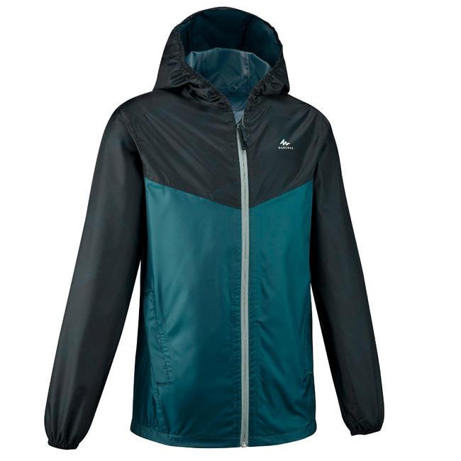 Kids' waterproof hiking jacket MH150 - Green