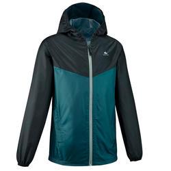 Veste imperméable de randonnée - MH150 verte - enfant 7-15 ans