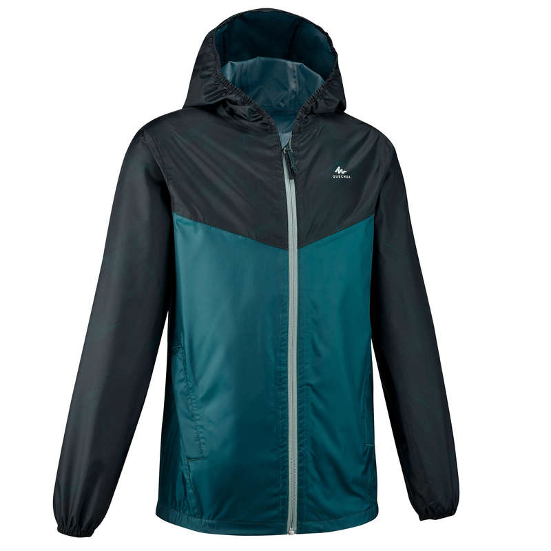 Fiú kabát, esőnadrág 7-15 év Túrázás - Gyerek kabát MH150 QUECHUA - Gyerek túraruházat