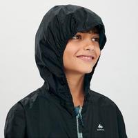 Kids' Hiking Waterproof Jacket MH150 7-15 Years - green