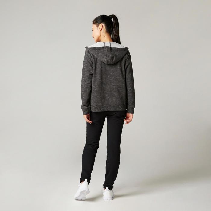女款皮拉提斯與溫和健身連帽外套500 - 灰色