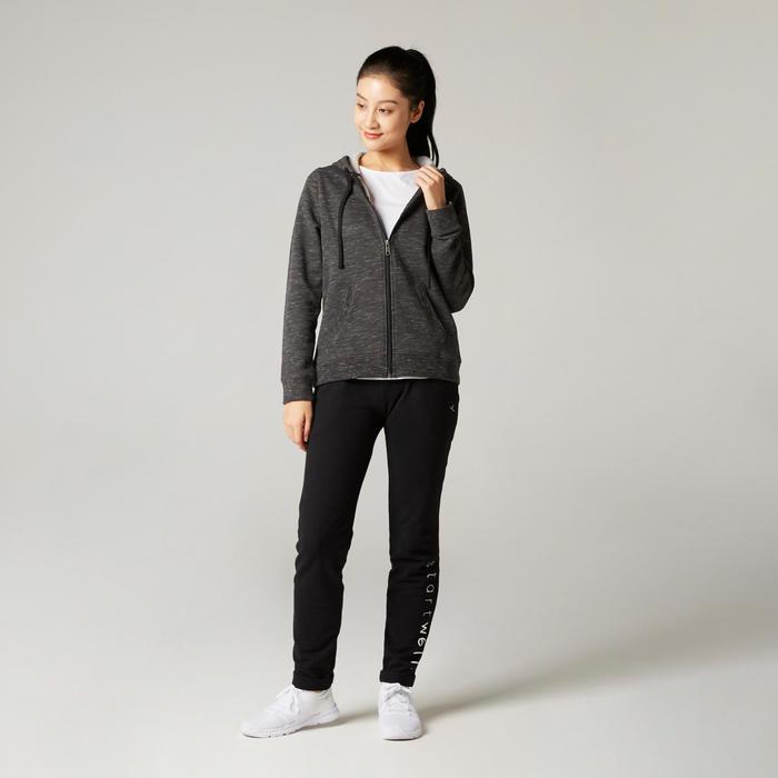 Women's Pilates & Gentle Gym Hooded Jacket 500 - Grey