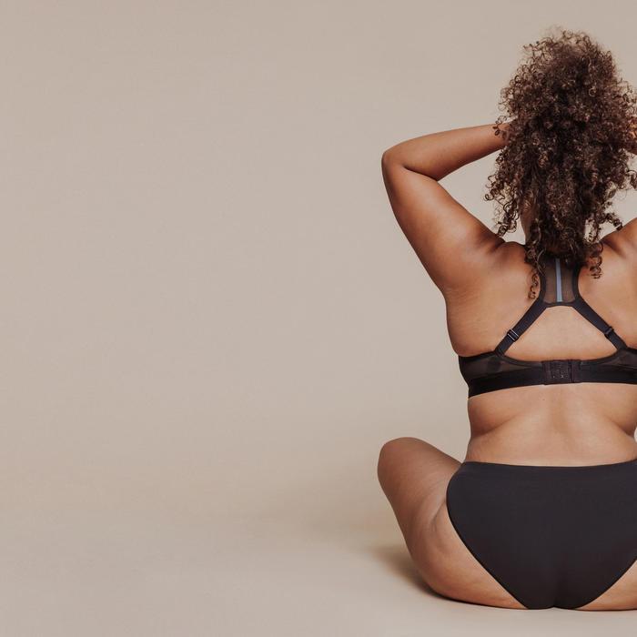 Ademend damesslipje voor hardlopen zwart