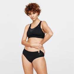 BASIC RUNNING SPORTS BRA -  BLACK