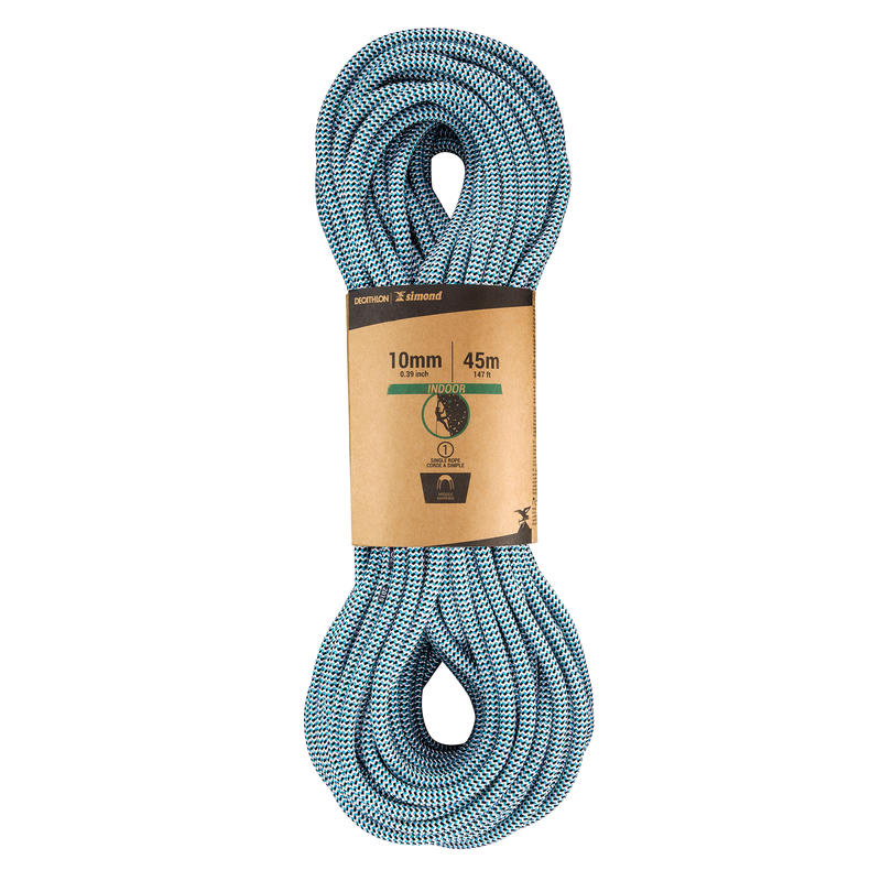 INDOOR CLIMBING ROPE 10 MM x 45 M - COLOUR BLUE