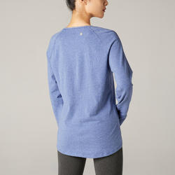長袖舒緩瑜珈T恤 - 紫色