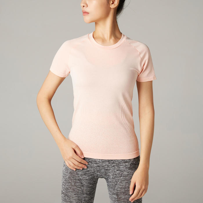Women's Slim Yoga T-Shirt - Pink