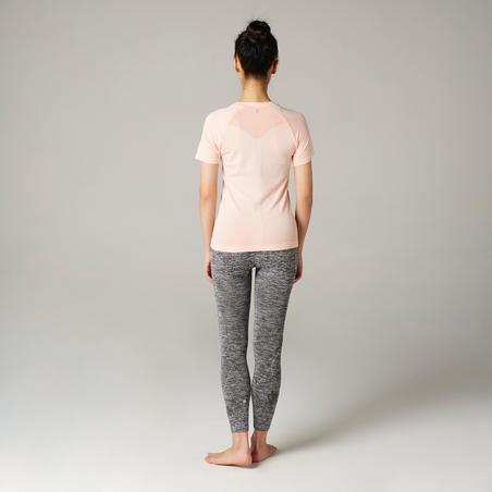 Kaus Yoga Slim Wanita - Merah Muda