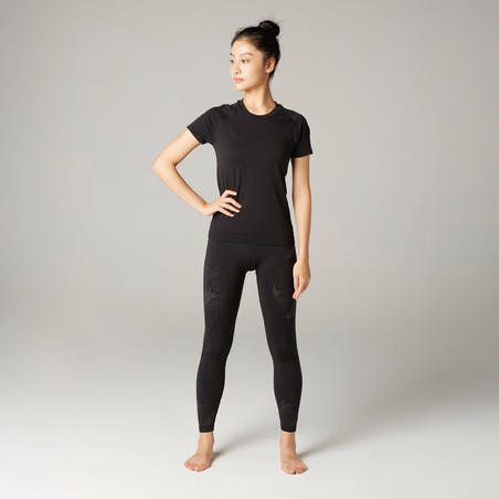 Women's Slim Yoga T-Shirt - Black
